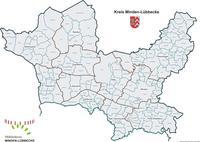 Kreiskarte mit Gemeinde- u. Gemarkungsgrenzen