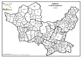 Kreiskarte mit Gemarkungsgrenzen