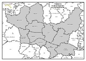 Kreiskarte mit Gemeindegrenzen