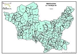 Wahlbezirke zur Kreistagswahl